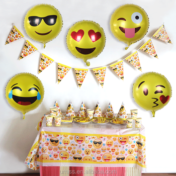 Umiss 83pcs Emoji Paper PlateHatCupNapkinTable CoverFork & Umiss 83pcs Emoji Paper PlateHatCupNapkinTable CoverForkKnife ...