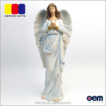 oem small gardian angle statue resin christmas angel figurines - Christmas Angel Figurines