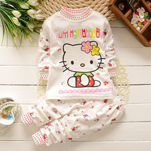 Winter Babys Sleepwear Cotton Boys Pyjamas Girls Clothing animals giraffes Bees Baby Sets Underwear kids pajama