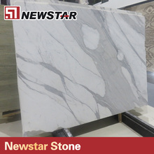 Newstar high polished calacatta white marble tiles and slabs,white marble 24x24 tiles