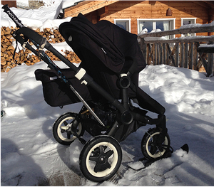 baby stroller ski use in snow beach Pram ski trotties stroller sled buggy Accessories Buggy Pushchair Stroller Pram Wheel SkiB