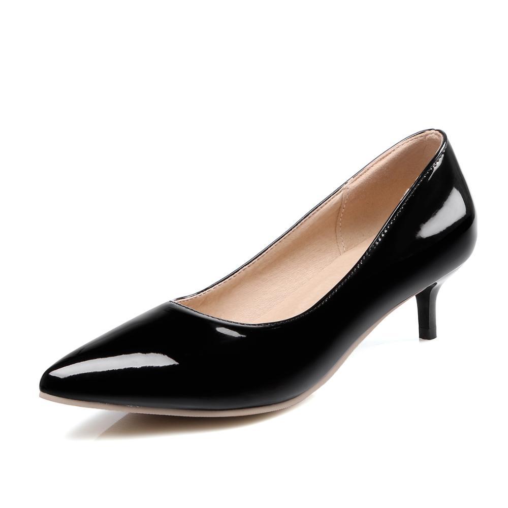 3d545e657 أحدث نمط جديد السيدات حذاء حريمي كعب عالي أحذية للفتيات النساء هريرة كعب  اليومية ارتداء أحذية