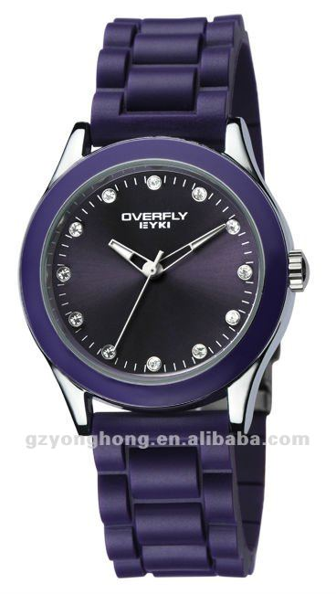 colorful rubber watches ,hot selling style 2012