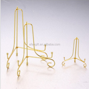 gold wrought iron easel stand