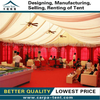 waterproof large wedding party tents with aluminium and beautiful decoration