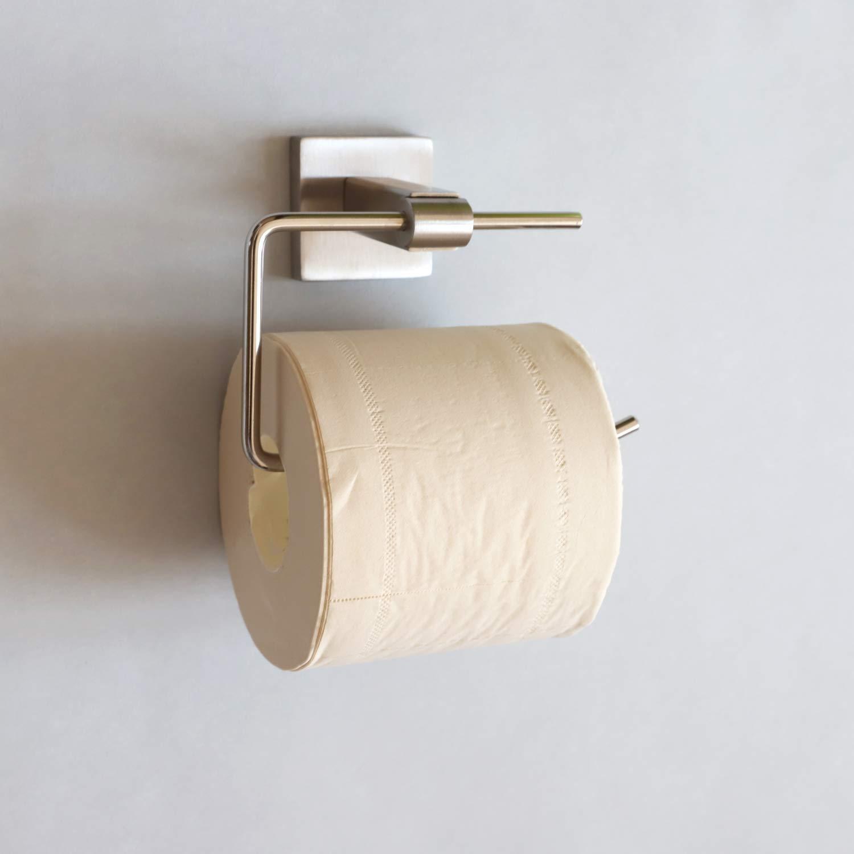 TOGU SUS 304 Stainless Steel Toilet Paper Holder Rustproof Storage Bathroom Kitchen Paper Towel Dispenser Tissue Roll Hanger Wall Mounted, Brushed Stainless Steel Finish