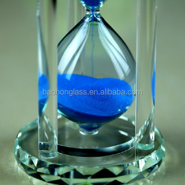 Loving Heart berg crystal 15 minutes hourglass