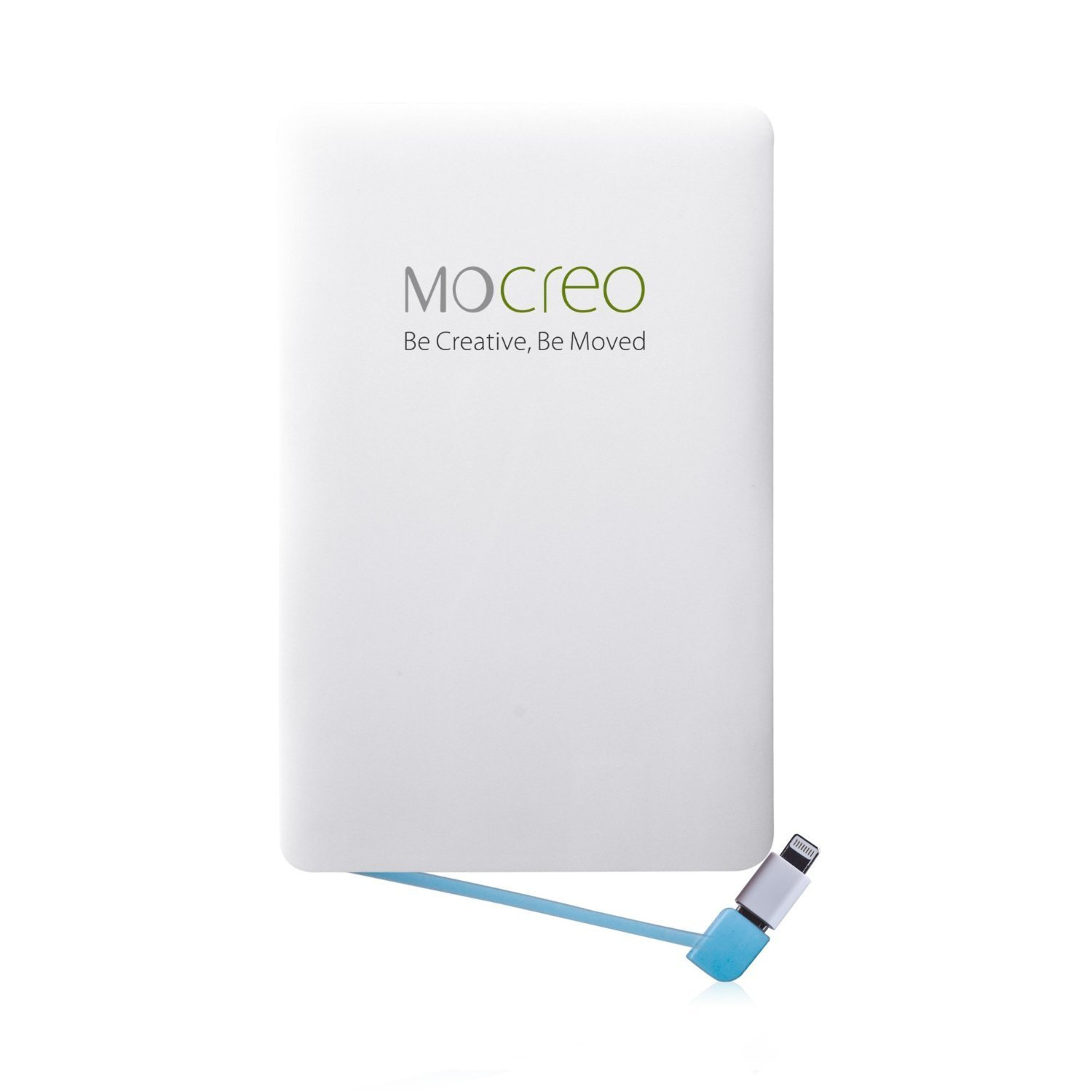 MOCREO Portable Power Bank, 2500mAh Power Charger Pack Built-in Micro-USB Cable for Andorid and a Lightning Adapter for iphone iPad