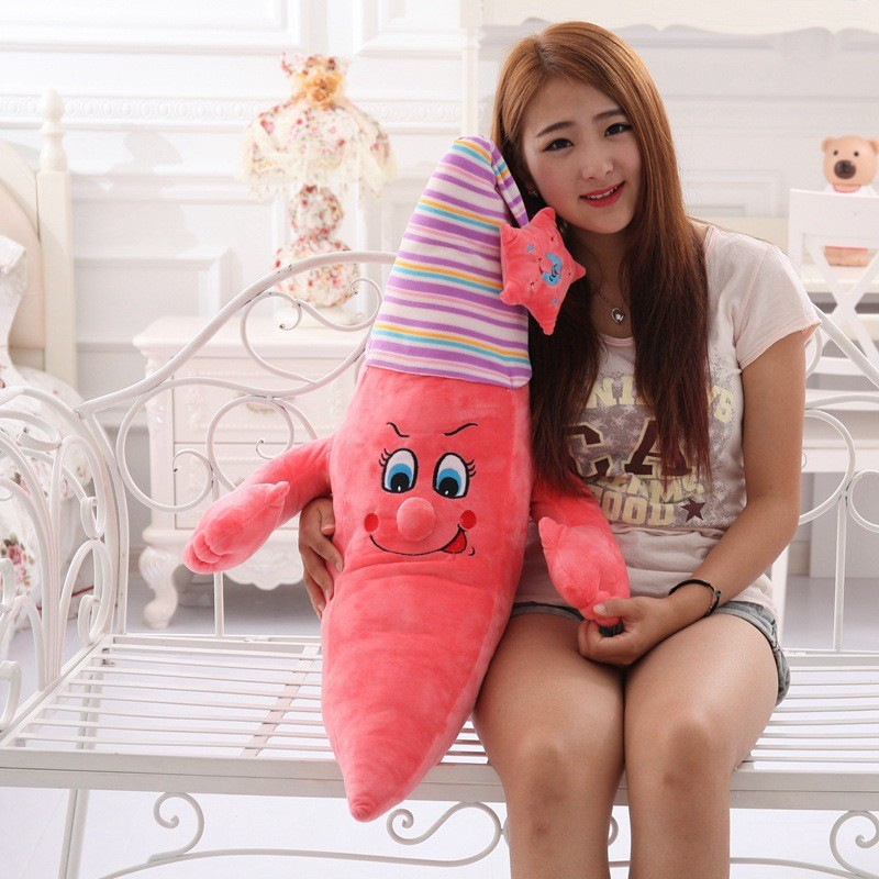 Cute cartoon creative gift for children the star nightcap moon pillow doll plush toy