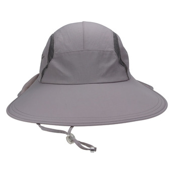 100% Polyester Fishman Hat Wide Sun Visor Caps With Back Flap - Buy ... d05a887add63