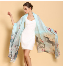 Customized Digital Printed 100% Silk Satin Long Scarf Of Design