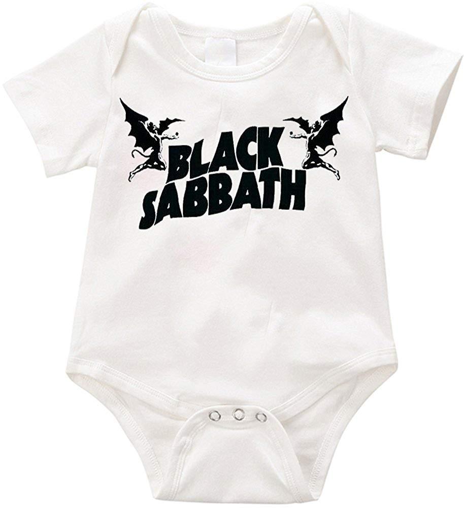 cfd918eff428 Get Quotations · Anicelook Black Sabbath funny onesie Romper Unisex Funny  Romper Onesie Creeper