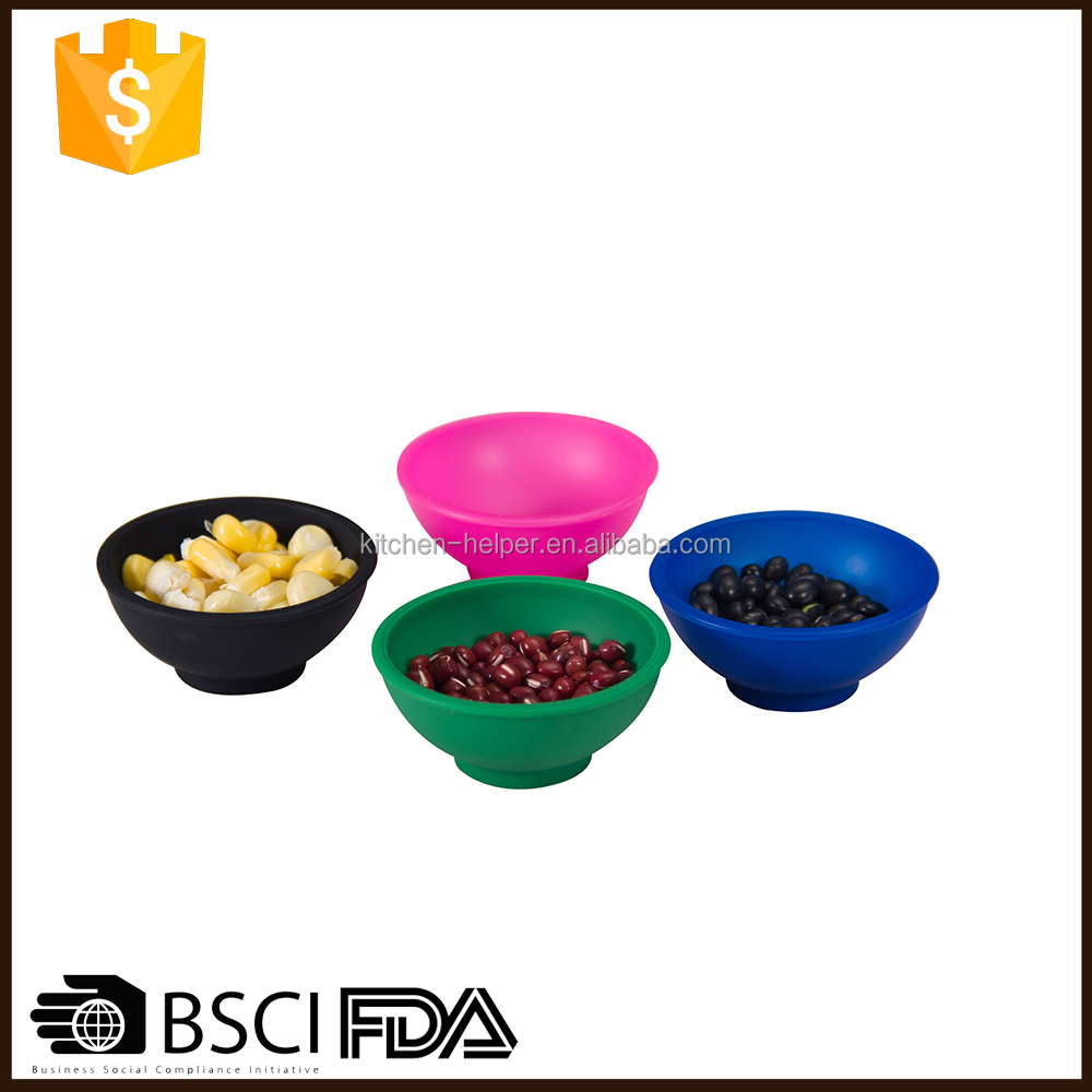 Ideal For Small Cooking Ingredients Mini Flexible Silicone Pinch Bowl Set Of 4 Spice