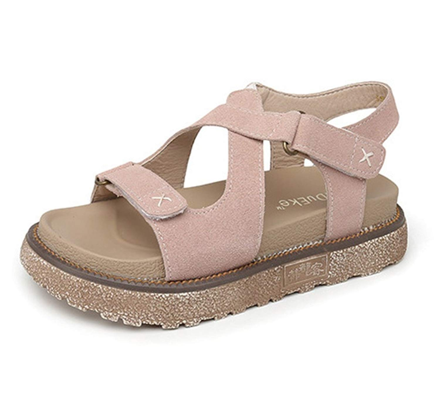 ed745d6cc309 Get Quotations · Zarbrina Womens Flat Platform Sandals Casual Rome  Fisherman Summer Open Toe Buckle Thick Bottom Shoes