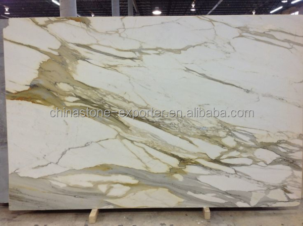 Italy Marble Plate White Calacatta Marble Tile Slabs