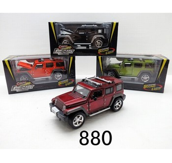 Small Metal Model Car Push Back Smart Jeep Cars Diecast Toy For Sale