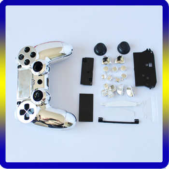 Replacement Chrome Gold Shell For Ps4 Controller With Custom Button Mods  Kits - Buy Custom Chrome Shell For Ps4,Full Button For Ps4 Controller,For  Ps4
