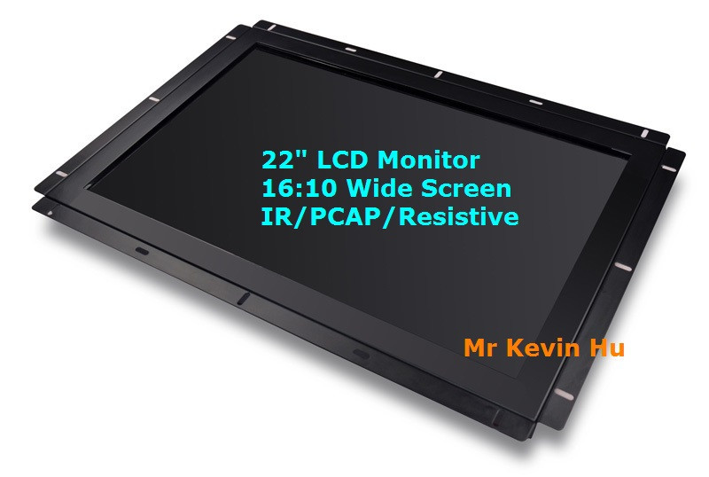 "16:10 wide screen ir touch monitor, 22"" 23"" 21.5"" open frame tft lcd display for outdoor charging station"