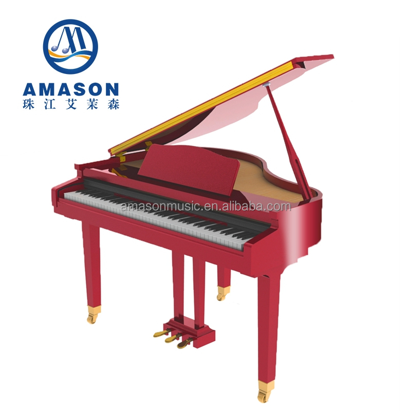 Digital Grand Piano 88 Tasten Holzhammer Aktion Tastatur Klavier polnischen Musikinstrument Baby Grand Digital Piano GP-1100
