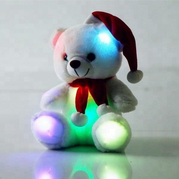 2019 Fashion Stuffed Animal White Teddy Bear Night Light Led Plush