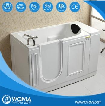 Portable Bathtub Easy Step In Sit Down Walk In Bathtub