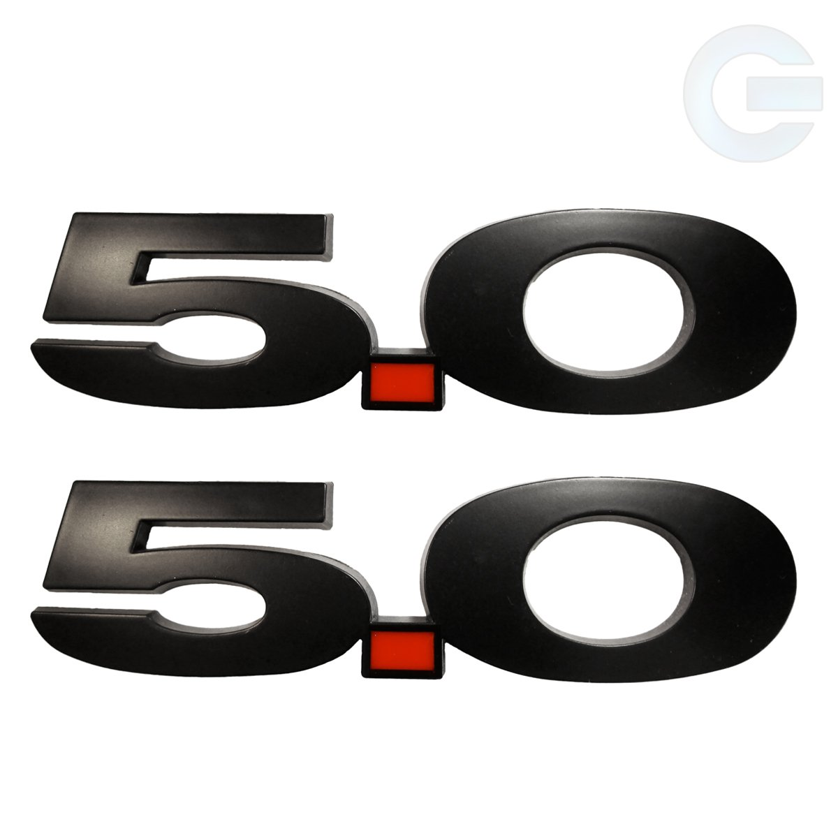 5.0 Liter Matte Black Emblems Ford Mustang F150 - Pair