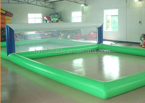 Inflatable beach volleyball court,inflatable water volleyball games equipment,water volleyball park for sports