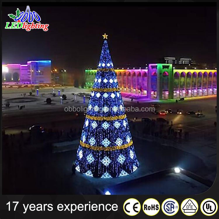 Giant christmas tree led white tree with ligh for outdoor decoration