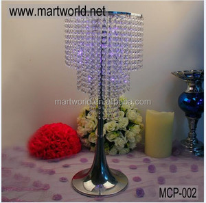 hot sell crystal centerpiece wedding decoration table centerpiece wedding stand party decoration wedding chandelier (MCP-002)