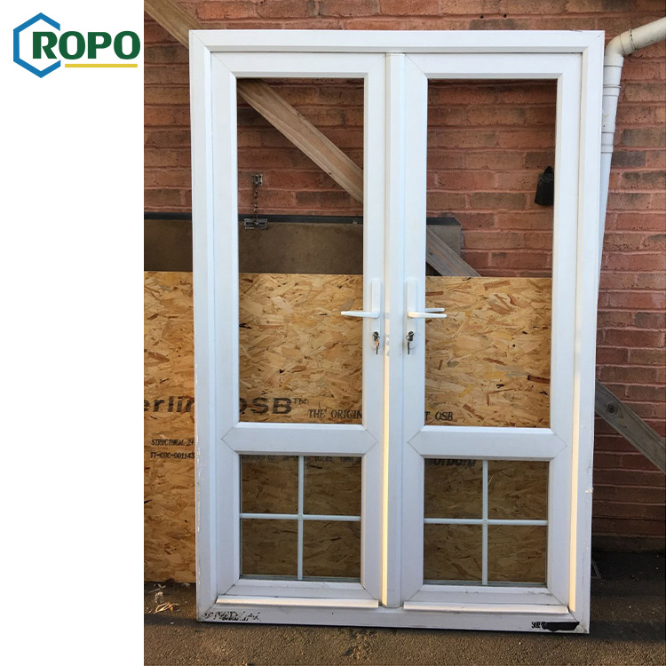 AWA And WERS Certified ROPO Building Double Glazing UPVC/PVC Casement Doors