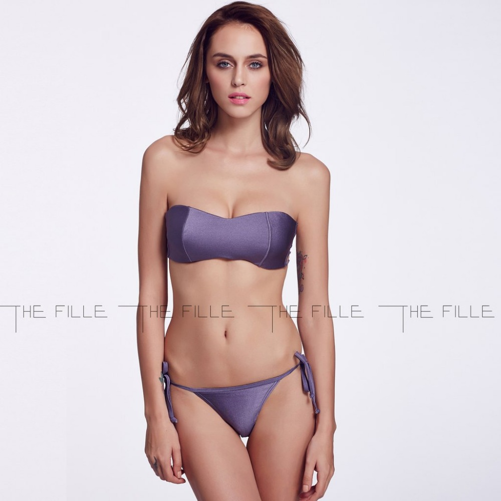 f21210f2b9ef8 Buy 2015 THE FILLE Sexy Dark purple Push Up Bandeau Top Bikini Set Swimsuit  Halter Bathing Suits for Women Swimming Wear in Cheap Price on m.alibaba.com