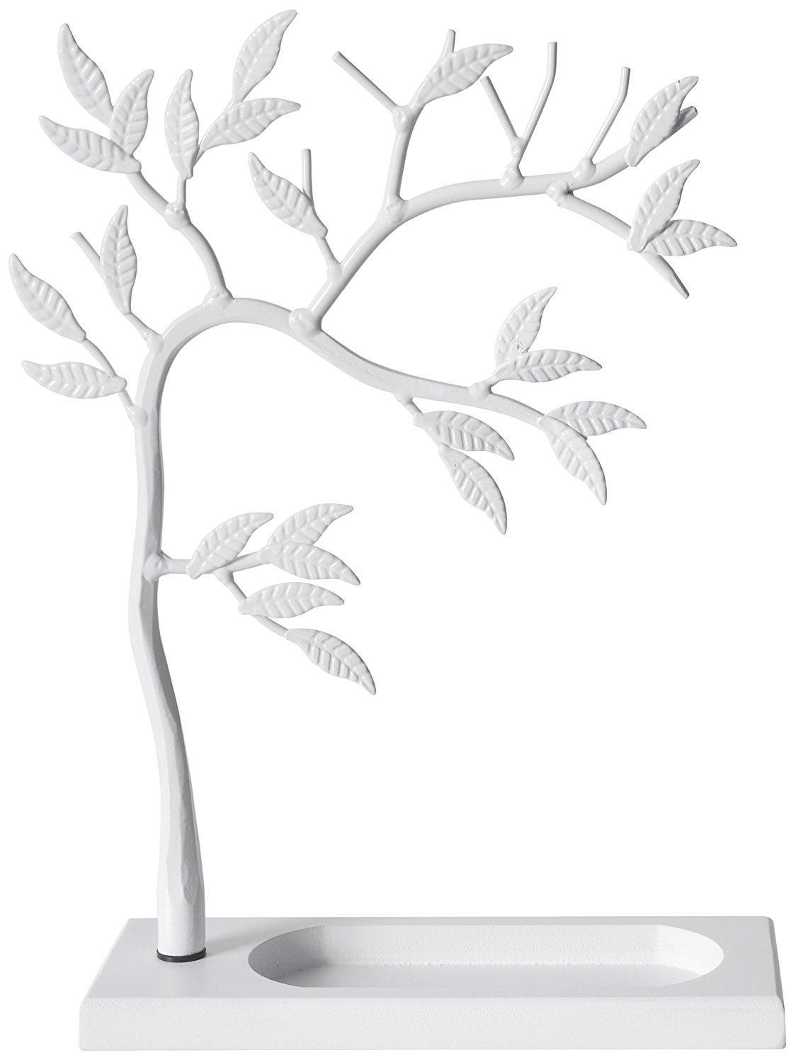 LilGift Metal Jewelry Tree - Necklace, Bracelet, Earring and Ring Jewelry Holder (WHITE)