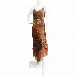 New sexy spaghetti strap brown mother of the bride dresses with beaded