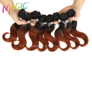 Professional fiber synthetic hair cheap weave 100% prices