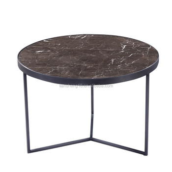 Simple design metal base table small round corner table brown marble simple design metal base table small round corner table brown marble tea table watchthetrailerfo