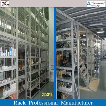 warehouse storage steel mezzanine auto parts racking and shelving buy auto parts racking racks. Black Bedroom Furniture Sets. Home Design Ideas