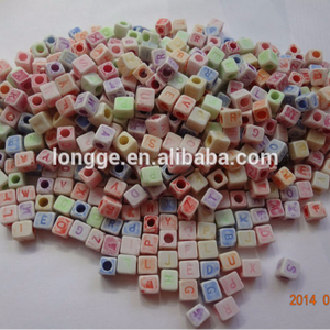 plastic hair beads wholesale with Color the letter beads Children's diy beads material accessories