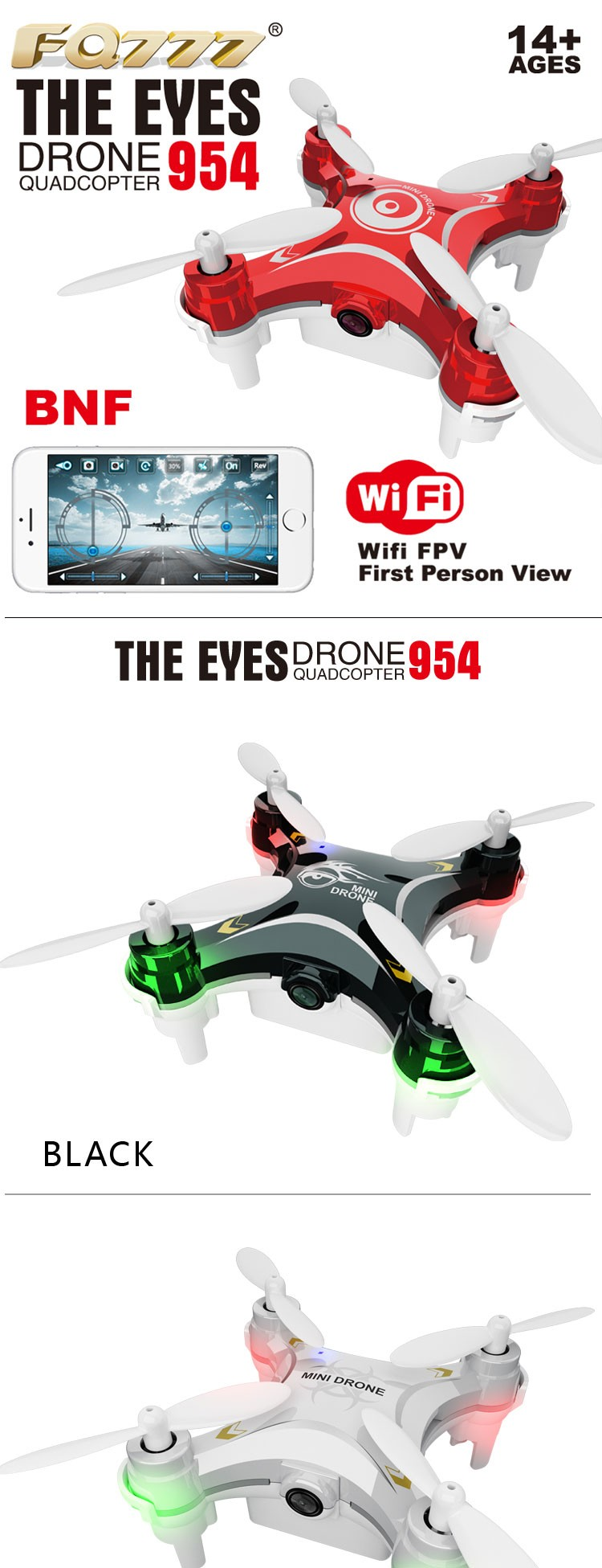 Mini Drone with Camera and Wifi