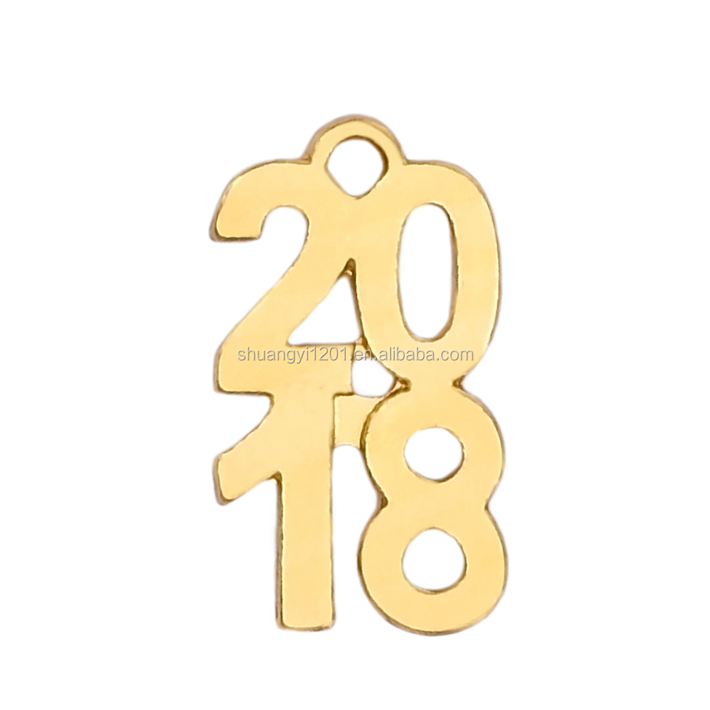 Gold Or Silver Jewelry Making Number 2018 Charms & Pendants 2018 Graduation Jewelry