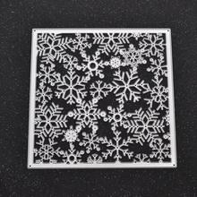 Merry font b Christmas b font font b Snowflake b font Cutting Dies Stencils Square Template