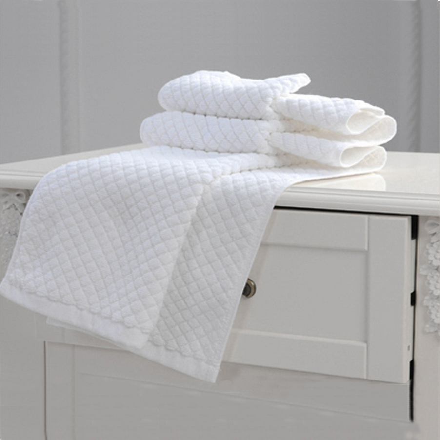 21s Hotel Use Good Quality Jacquard Bath Floor Mat Foot Towel