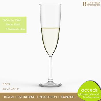 2ccf2d1682a2d Mouth Blown Custom Blown Glass Champagne Flute - Buy Blown Glass ...