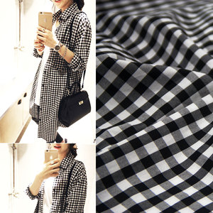 wholesale 100% cotton fabric gingham check white and black pabric