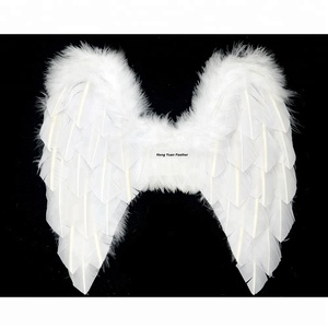 Manufacturer High Quality Delicate Luxury Angel White Wing For Party Performance Show Decoration, Feather Wing With Various Type