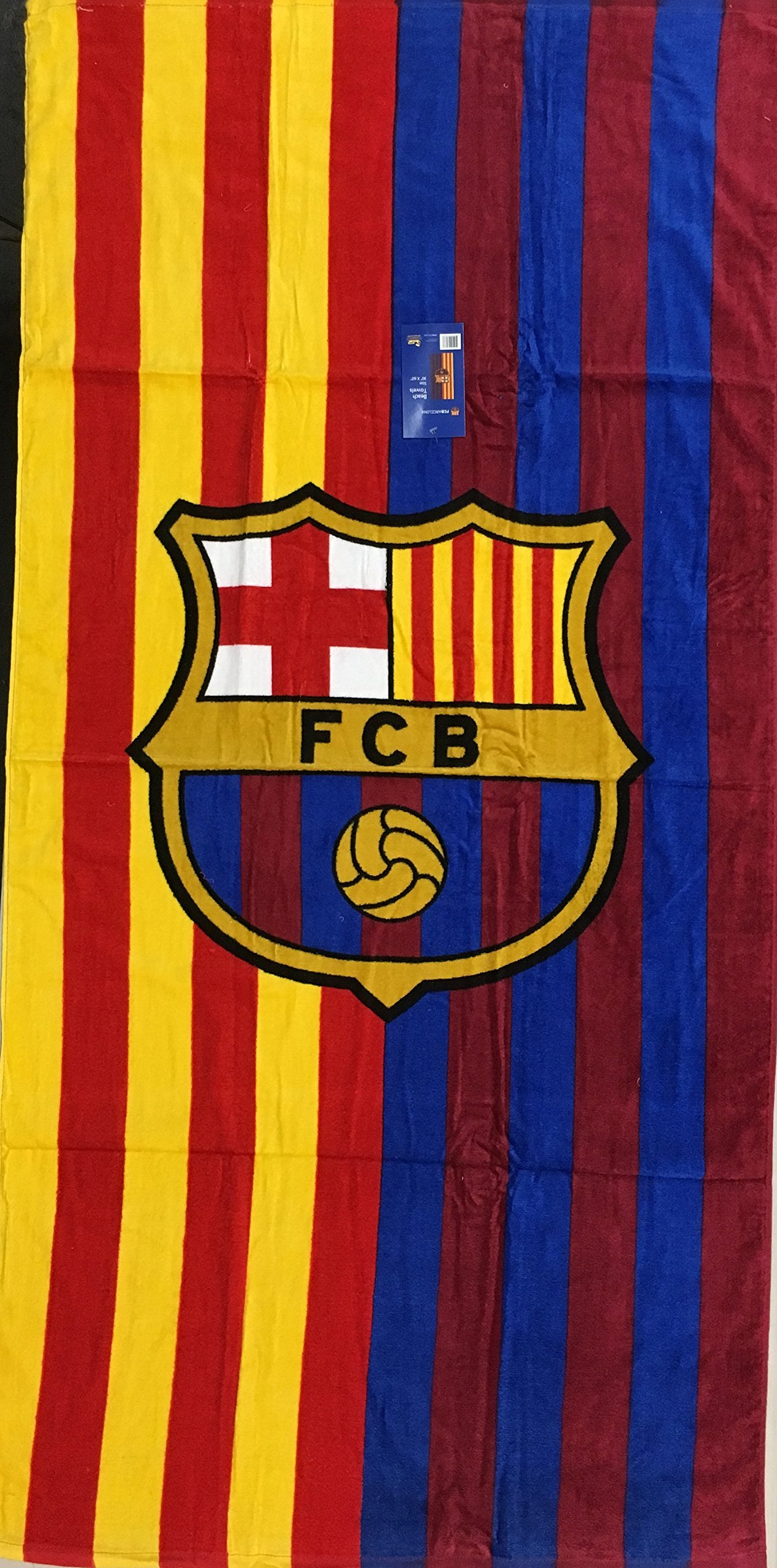 226385f9ad6a0 MES QUE UN CLUB FC Barcelona Soccer Team Two Tone Beach Towel