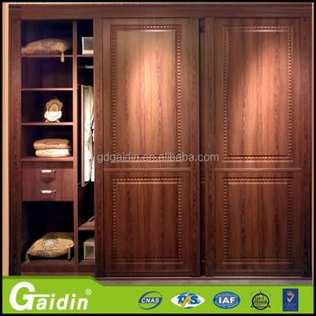 Aluminum Bedroom Wardrobe Sliding Door Back Wall Closet Sliding Door System  Puerta Corredera Aluminum Frame And