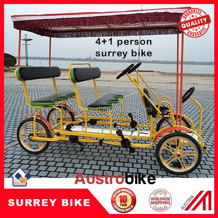 four wheel four person surrey bike for family park surrey bike hot selling