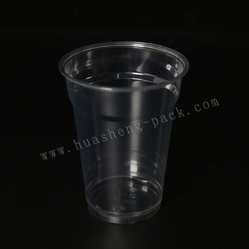 14oz PET material disposable plastic coffee cup