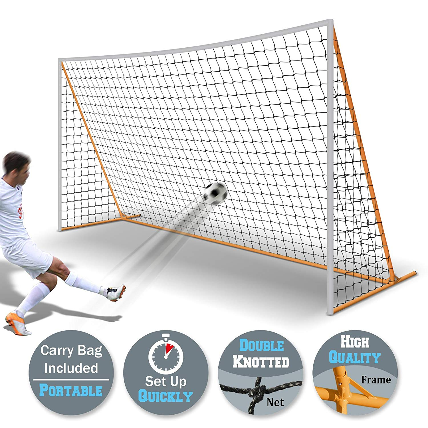 e0fbd1574 Precision Training Soccer Sports Pop-Up Portable Complete Goal Set With Bag  Goals