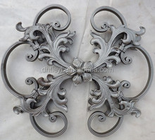 handmade hammered wrought iron scroll bending panels for gate